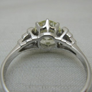 Art Deco Diamond Solitaire Ring 1.75 Carats