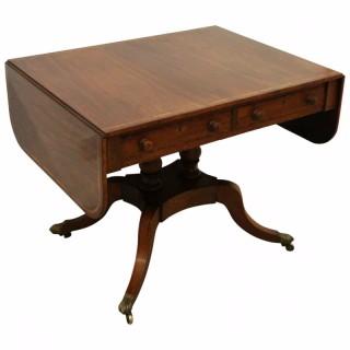 Scottish Mahogany Inlaid Sofa Table