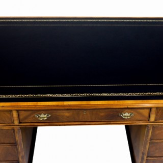 Vintage George 11 Style Figured Walnut Desk