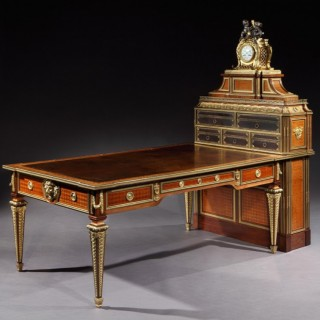 Kingwood and Parquetry Cartonnier in the Louis XVI Manner
