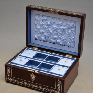 Regency Mother of Pearl Inlaid Jewellery Box