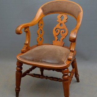 Victorian Walnut Desk Chair - Office Chair