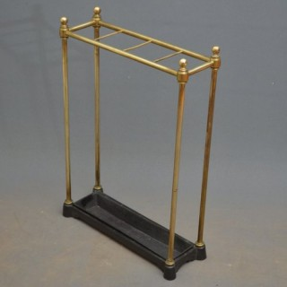 Victorian Brass Umbrella Stand - Stick Stand