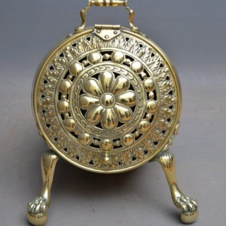 Unusual Victorian Brass Coal Scuttle