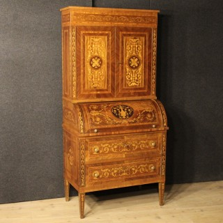 20th Century Italian Inlaid Trumeau In Louis XVI Style