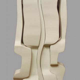 White Interlocking Form