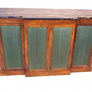 Regency Rosewood 19th Century Breakfront Side Cabinet
