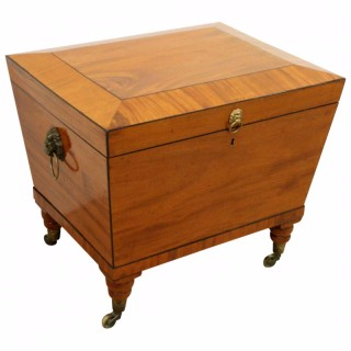 George IV Mahogany and Ebonised Inlaid Wine Cooler
