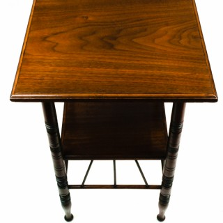 Antique Walnut Occasional Table by E W Godwin