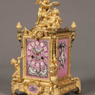 French Carriage Clock in the Louis XV Manner