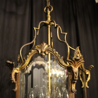 French Bronze Five Light Antique Lantern
