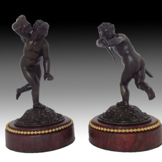 A Pair of French Bronze Cupids