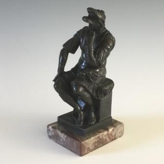 A late 19th century Patinated Bronze Lorenzo de Medici