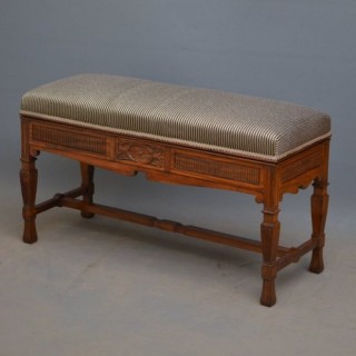 Late Victorian Rosewood Duet Stool