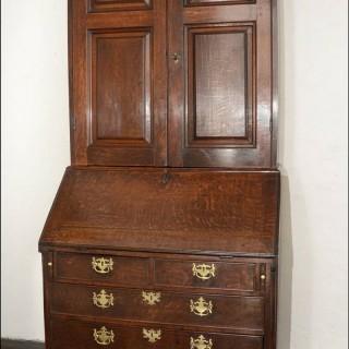 A mid 18th century eastate Bureau Bookcase