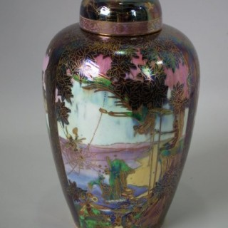 Wedgwood Fairyland Lustre Sycamore Tree vase & cover