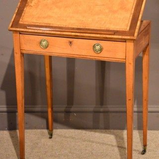 A Superb Quality George III Satinwood Ladies Writing Table