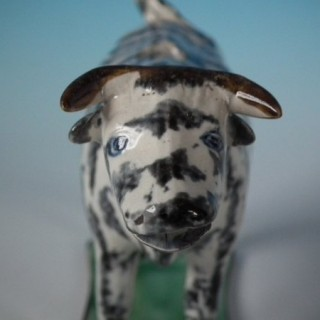Staffordshire Pearlware Pottery Cow Creamer