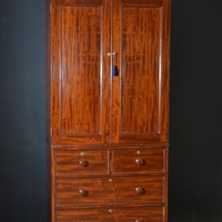 Victorian Mahogany Linen Press - Wardrobe