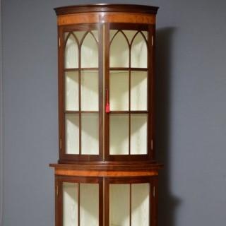 Edwardian Mahogany Free Standing Corner Cabinet