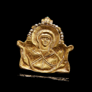 Byzantine Pendant with Mary