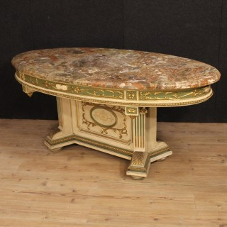 20th Century Italian Lacquered And Gilded Table