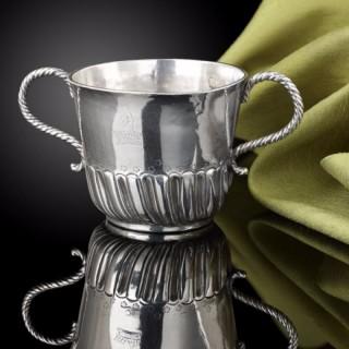 A fine Silver gilt wine cup, German or Swiss c.1630
