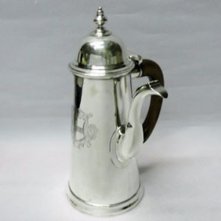 George I Silver Chocolate Pot