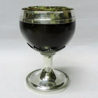 Antique Silver Coconut Cup
