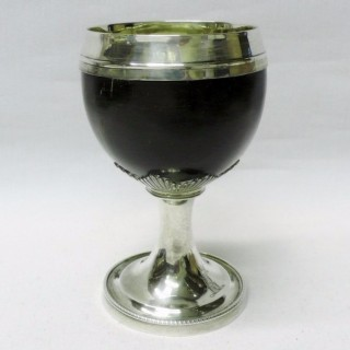 Antique Silver Coconut Cup