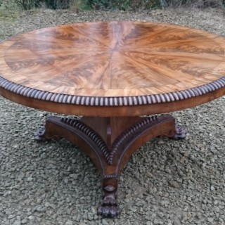Regency Flame Mahogany Breakfast Table Centre Table