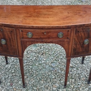George III Period Mahogany Bow Front Sideboard