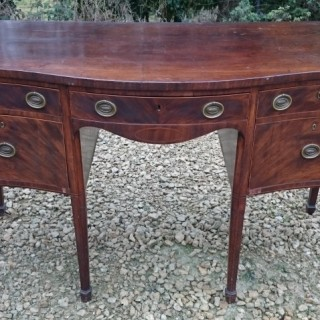 Eighteenth Century George III Period Mahogany Serpentine Fronted Sideboard