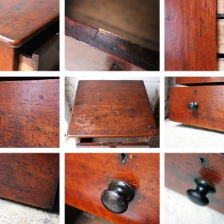 An Attractive Victorian Stained Pine Bedside Chest of Drawers c.1860-80