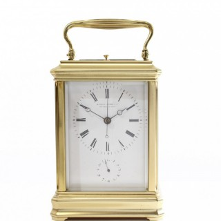 Striking Carriage alarm Clock with Centre Seconds