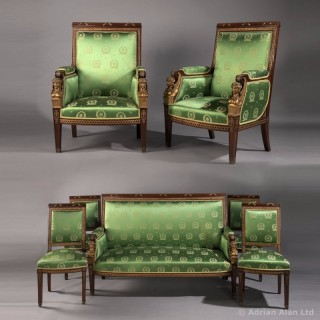 Mahogany And Gilt-Bronze Seven Piece Second Empire Salon Suite