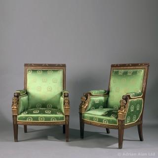 Mahogany And Gilt-Bronze Seven Piece Second Empire Salon Suite