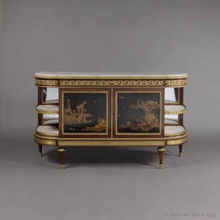 Louis XVI Style Lacquer and Ebony Veneered Commode