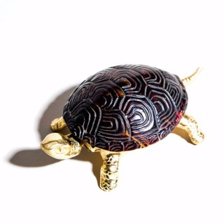 Gold Tortoise Bell With Shell Top