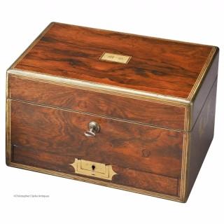 Brass Edged Jewellery Box