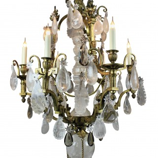 Fine Russian Gilt Bronze and Rock Crystal Chandelier