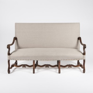 Walnut high back sofa