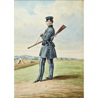 A Volunteer Rifleman Watercolour