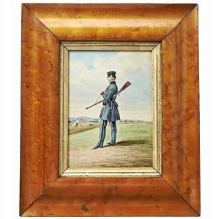 A Volunteer Rifleman Watercolour