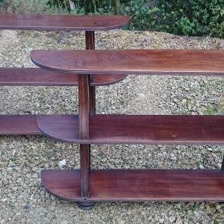 Rare Early Nineteenth Century Pair Of George IV Period Mahogany Bookcases