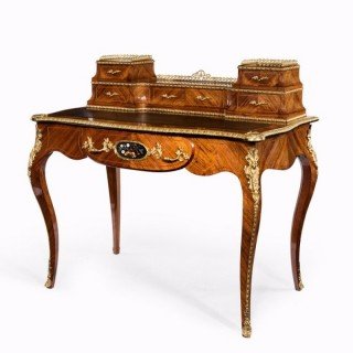 Victorian kingwood and box wood ladies writing table