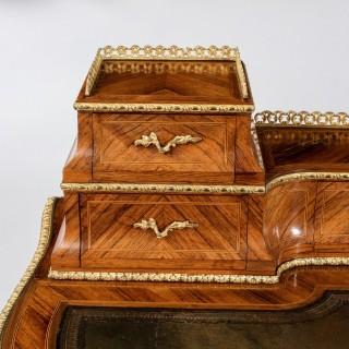 Victorian kingwood and box wood ladies writing table