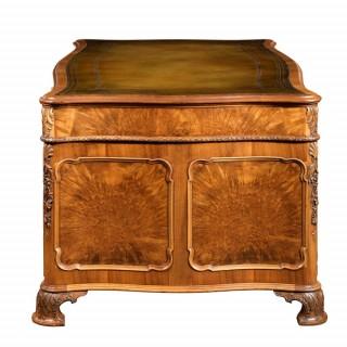 A burr-walnut desk