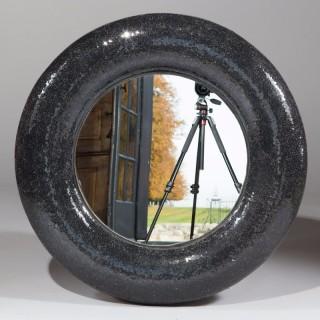 1980'S Circular Mosaic Glass Mirror