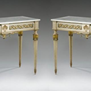A pair of Majorcan Carlos IV en suite console tables